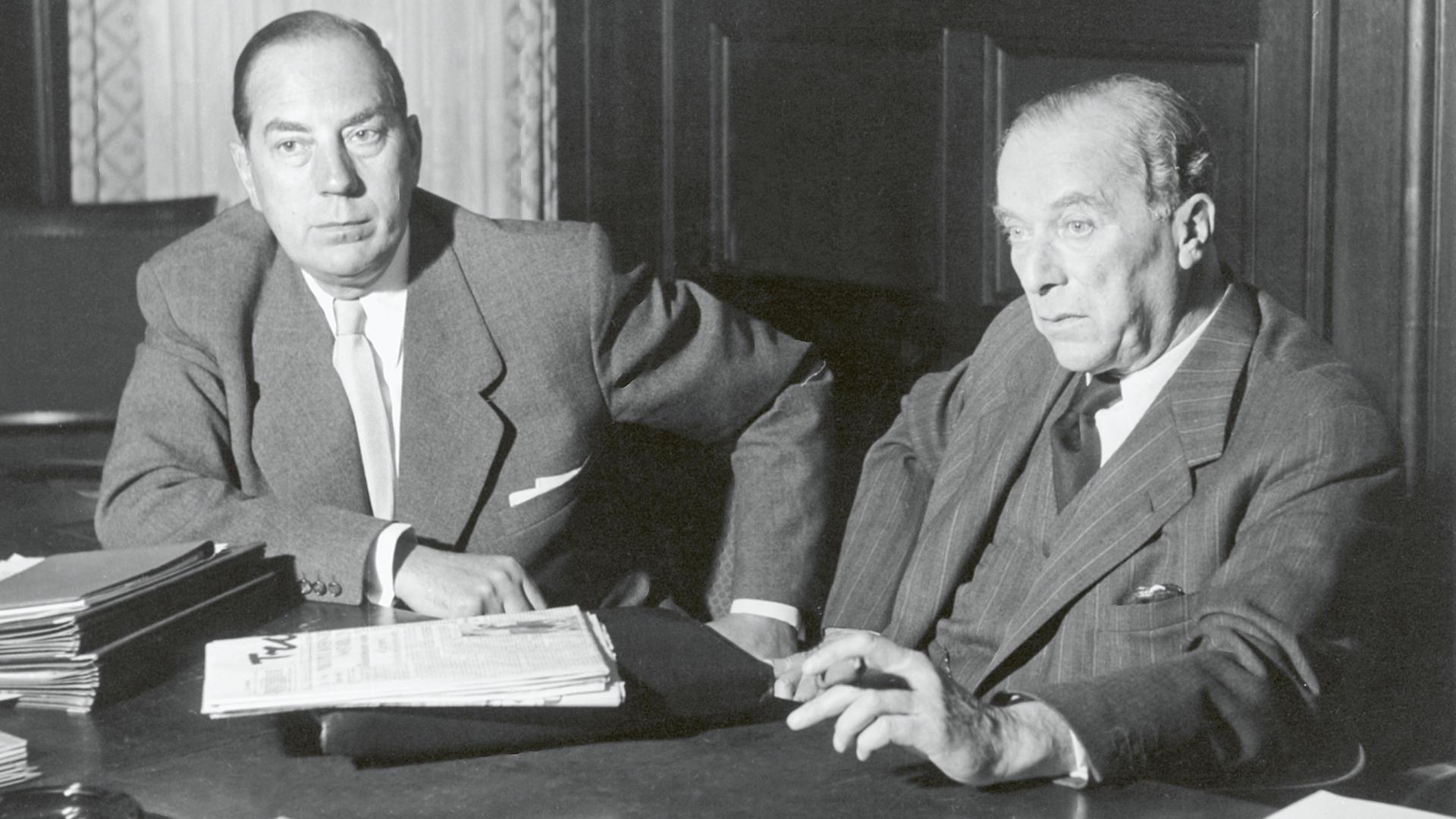 Ernst Hellmut Vits und Richard Merton (Foto: Photo-Holtmann)