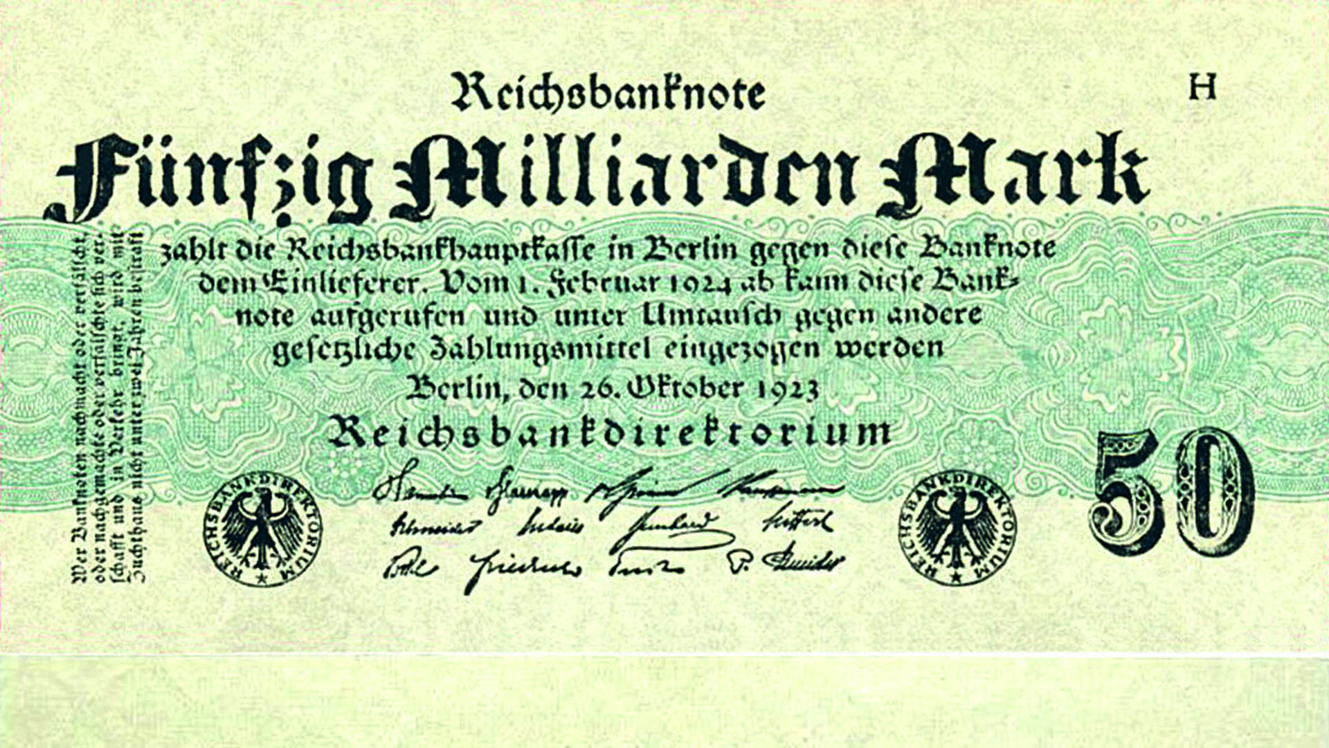 Foto: Gemeinfrei/Deutsche Reichsbank, [50 Milliarden Mark 1923-10-26]( https://commons.wikimedia.org/wiki/File:50_Milliarden_Mark_1923-10-26.jpg), via Wikimedia Commons
